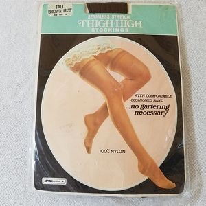 """💥5/$25💥Vintage Thigh-Hi Stockings, """"Brown Mist"""""""